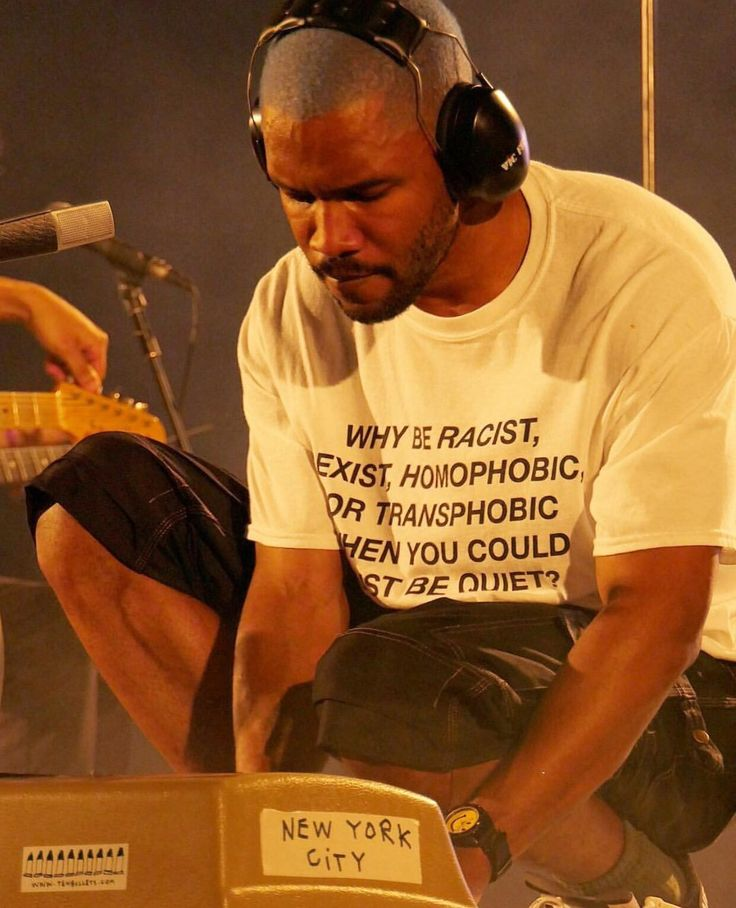 "kidcudison: """"Why be racist, sexist, homophobic, or transphobic when you could just be quiet?"" - Frank Ocean """