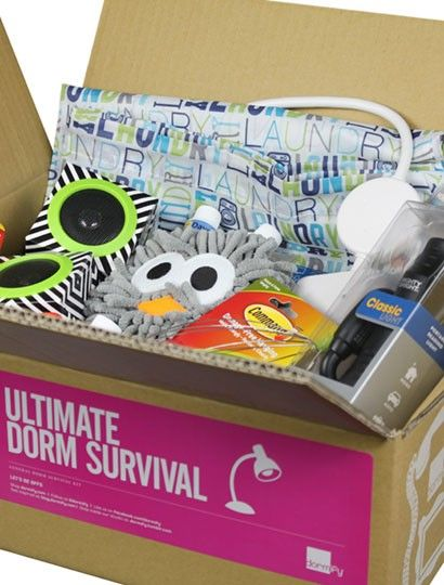 Ultimate Dorm Survival Kit, this is perfect, all it needs is a bottle of vodka