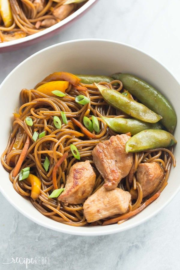 One Pot Teriyaki Chicken and Noodles Recipe