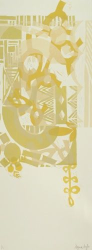 Dagmar Dyck, Into the West Series ( ET 23), woodcut on 290 x 770 mm paper, 1 of 1.