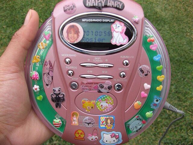 Stickers on a CD player!