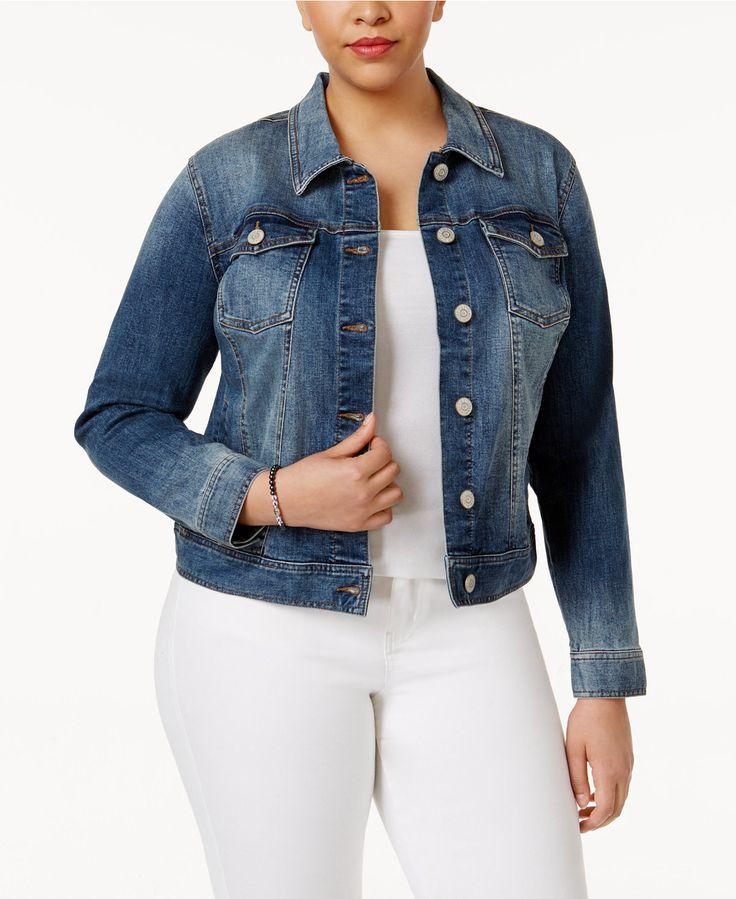 Celebrity Pink Trendy Plus Size Denim Jacket - Jackets & Blazers - Plus Sizes - Macy's