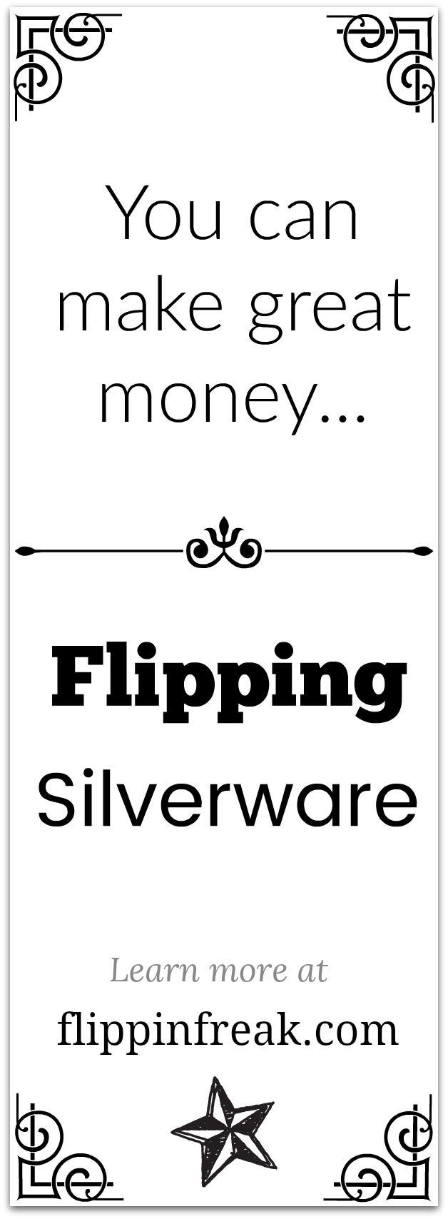 Learn how to make great money flipping Silverware! #sterlingsilver #sterling #silver #collectibles #flipping #fllippinfreak