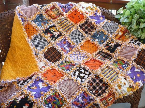 Kết quả hình ảnh cho Rag Quilt halloween sewing
