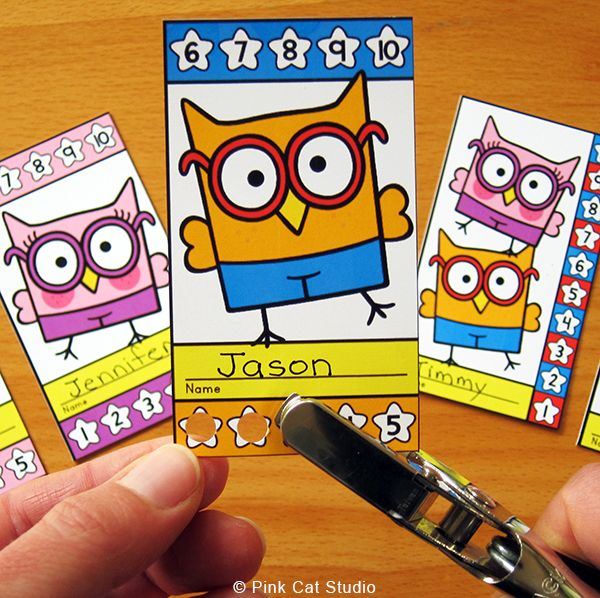 Motivate your students to achieve goals and good behavior with these fun and unique Smarty Pants Owls theme punch cards. Your students will love the characters and they will be excited to earn a punch on their card. Use these cards for behavior management, skill proficiency, homework completion, goal achievement or anything else you can think of. By Pink Cat Studio