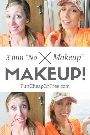 EASIEST MAKEUP EVER! 3 mins and just a few products. Perfect for everyday mom life, the pool, or vacation! From FunCheapOrFree.com
