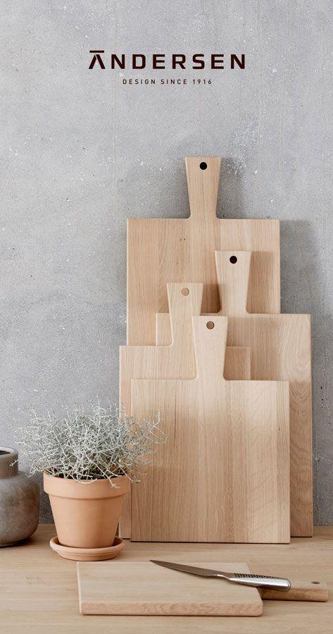 Nye skærebrætter fra Andersen. Et fantastisk stykke dansk håndværk #inspirationdk #living #Newarrival #inspirationonline #Andersen #danskhåndværk #Nordic