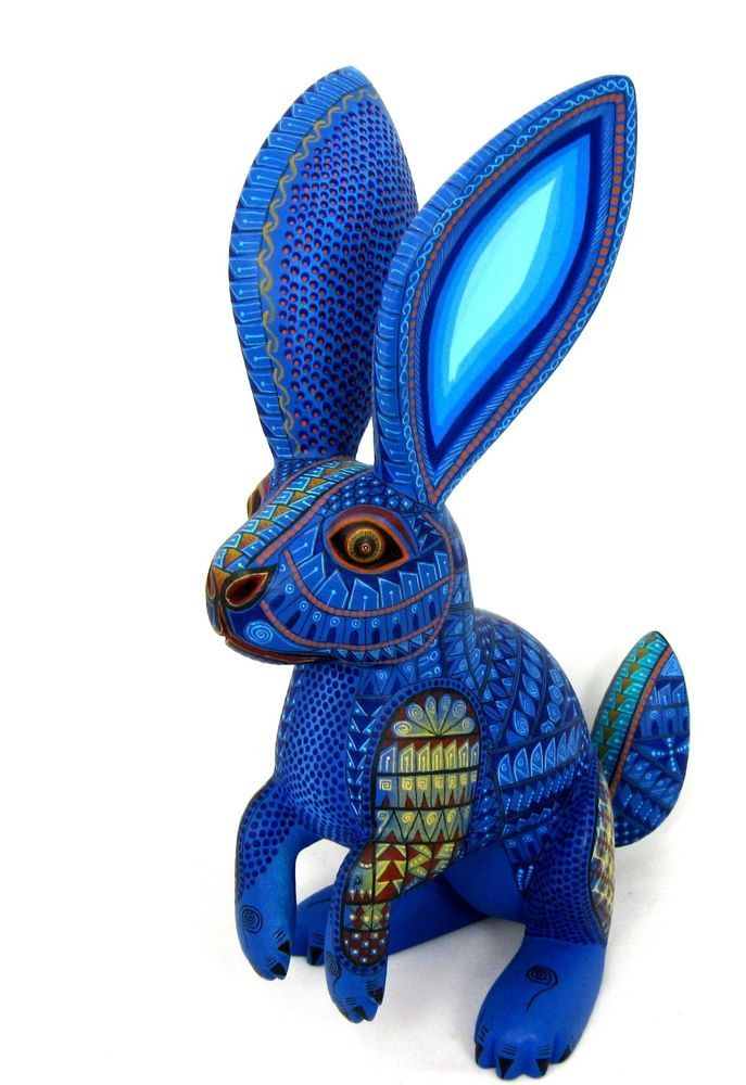 Oaxacan Wood Carving Rabbit By Jacobo Amp Maria Angeles