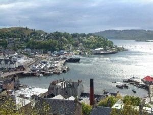 Oban, West coast of Scotland. Looks 100 times more impressive in person.  Miss this view.