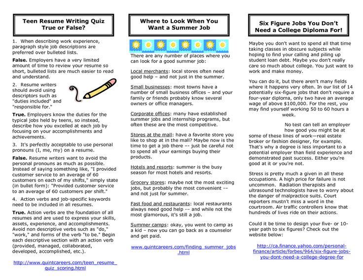 12 teenage resume examples sample resumes