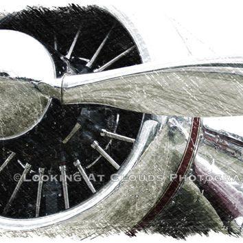 airplane art - vintage airplane art - - fine art photo - classic airplane - 8 x 10 - propeller - pilot gift - Spartan