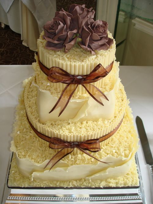 White Chocolate Wedding Cake | I don\'t do Weddings..but Love Romance ...