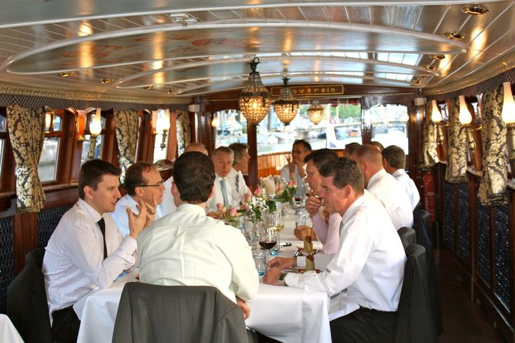 Business lunch on board
