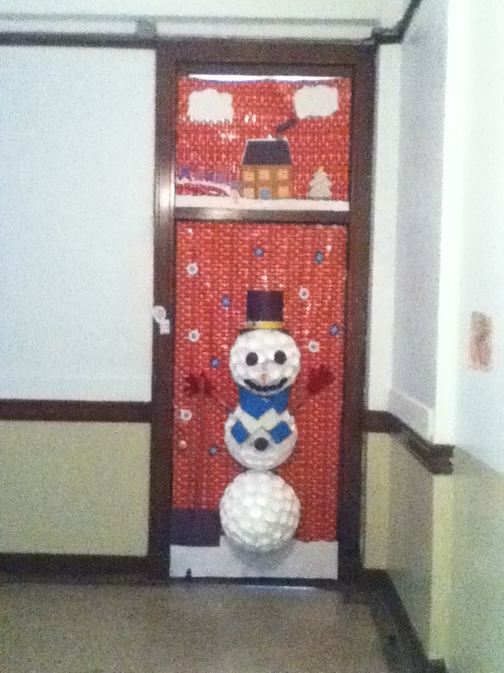 Holiday door decorating contests, where the teachers are more in it than the kids to win.