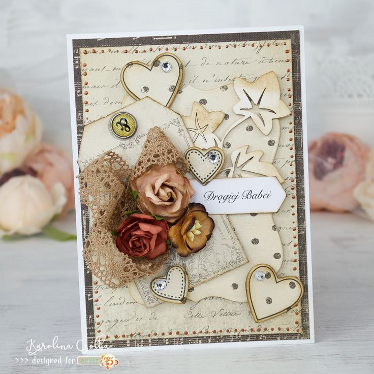 Handmade card for Grandmother made with Studio75 paper collection , cardmaking