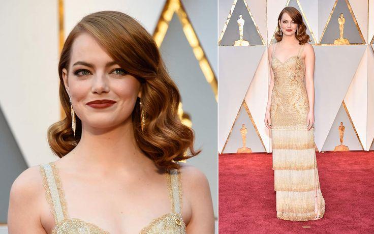 Ispirazione anni '30 per Emma Stone vincitrice del premio come miglior attrice protagonista per La La Land