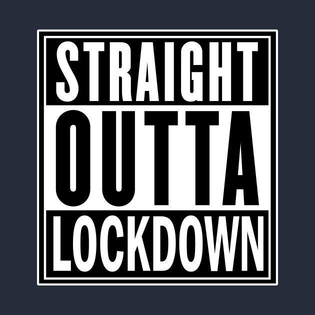 Straight Outta Lockdown Kids T-Shirt Friend Gift  Child Funny Toddler Quarantine