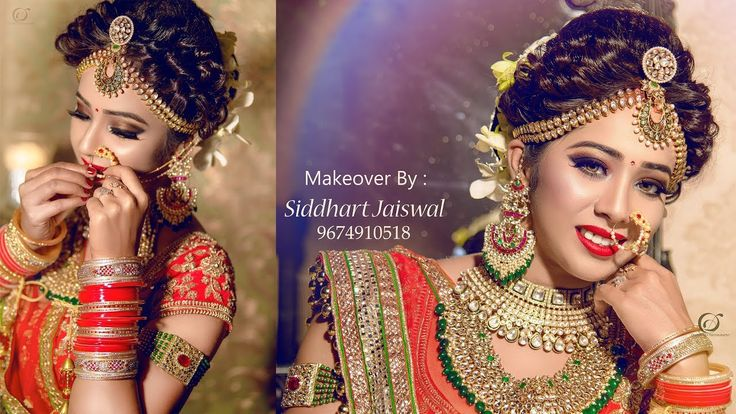 Indian Bridal Makeover   Makeup Artist Siddhart Jaiswal   Photographer L...