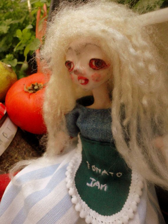 MOUSELLA ,Cookaholic girl,Happy Girl,Ooak Doll,Art Doll