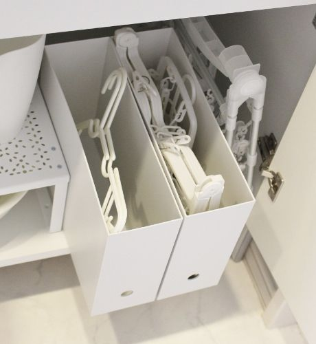 無印良品とイケア・セリアの洗面所収納♪洗面台の下にお気に入りの洗濯用品をスッキリ収納♪ - My simple home~目指せ片付け、整頓上手!楽々インテリア・収納・家事~