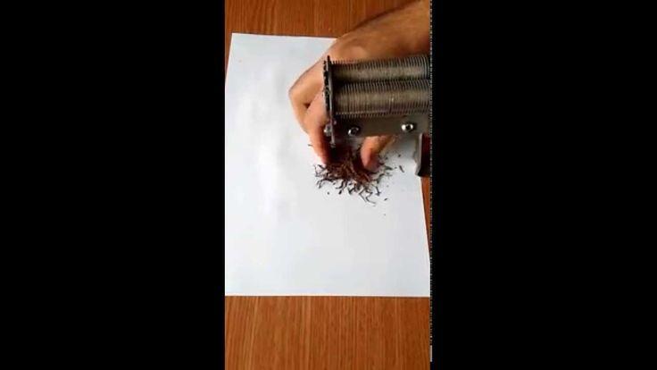 cum se taie o frunza de tutun  Pentru comenzi: www.tuburipentrutigari.ro