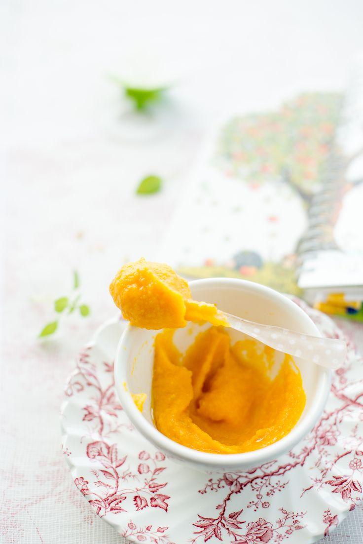 Food Photography Delicata Pumpkin Baby Puree