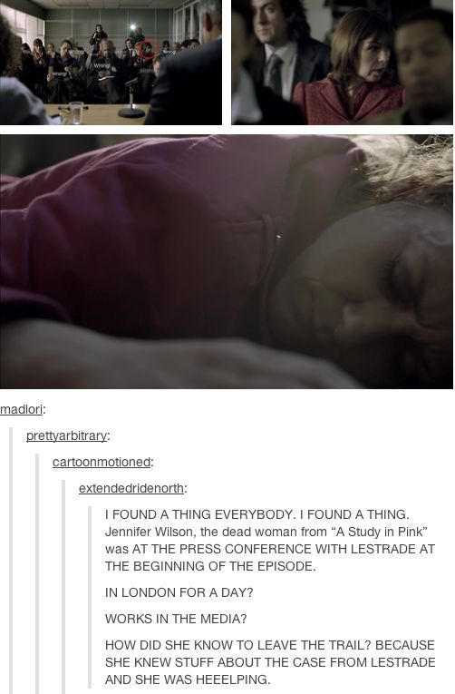 Just when I thought the Sherlock fandom was running out of details to notice....