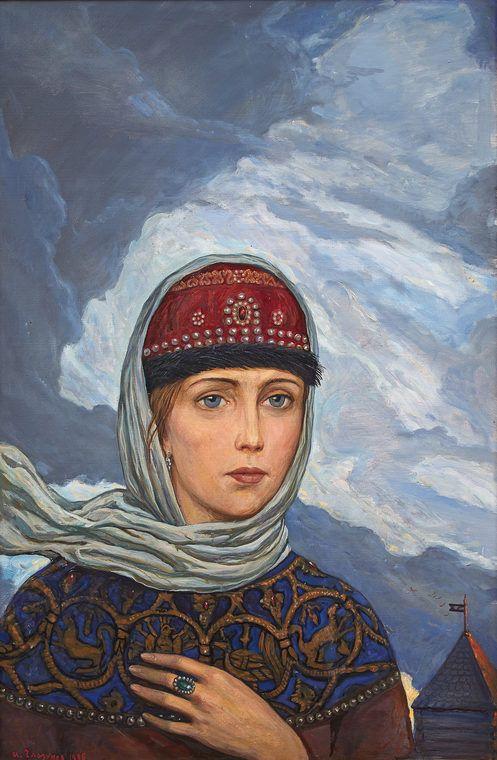 YAROSLAVNA, Ilya Glazunov (b1930 Leningrad, USSR) | RUSSIAN KITSCH