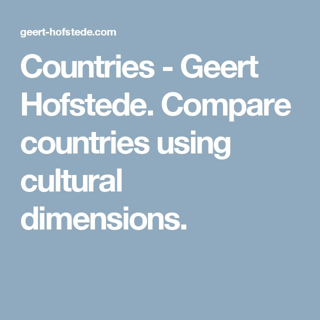geert hofstede us compared to brazil Compare countries discover the culture compass survey measure your personal cultural preferences on hofstede's 6d model, compare them to the culture of a selected country and become aware of cultural pitfalls.