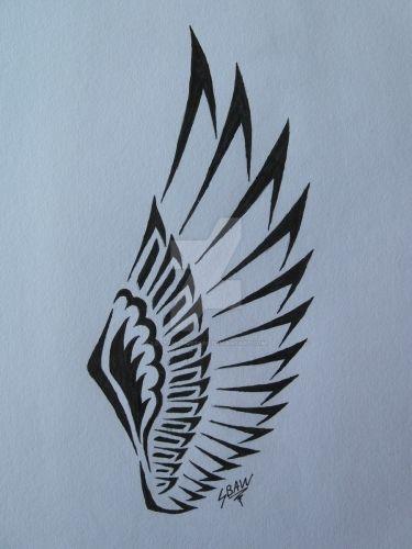 Wing Tattoo Shoulder Blades Best 25+ Tribal wings ...