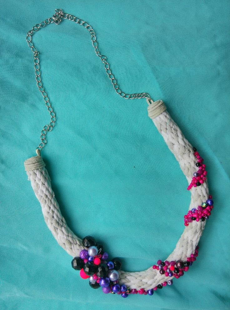 Kumihimo necklace. Refashioned. Made by UstriZeny:Retuseva.