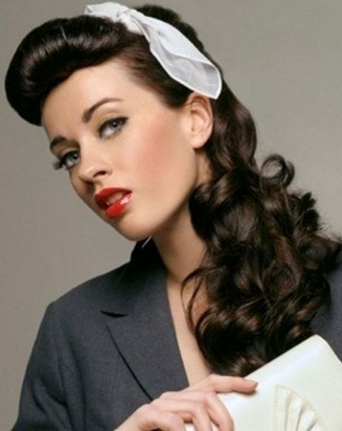 hairstyles for long hair 1950s  1950s hairstyles for long