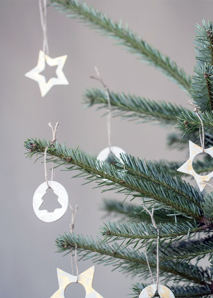 Christmas ornaments form air-drying clay