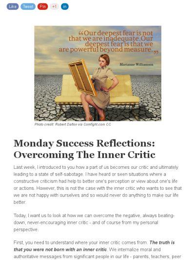Overcoming your Inner Critic: https://madmimi.com/s/c77826