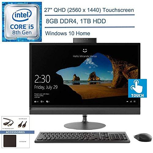 Lenovo Ideacentre A340 24 Aio All In One Desktop Computer 23 8 Fhd Touchscreen Intel Hexa Core I5 9400t Beats I7 6700 8gb Ddr4 Ram 512gb Pcie Ssd Dvdrw Wi Touch Screen Ddr4 Computer