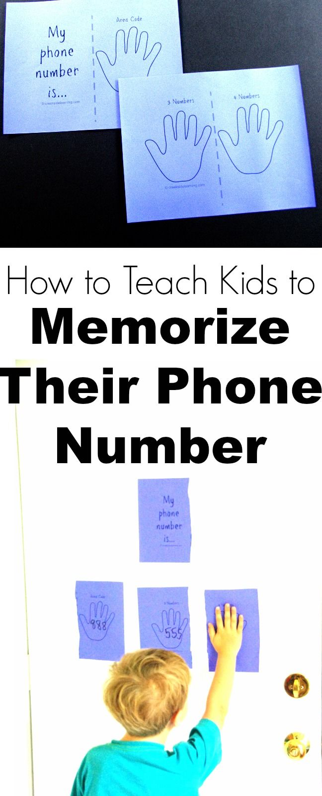 How to teach kids to memorize their phone number and address. Quick and easy learning activity for preschool, kindergarten and elementary school.