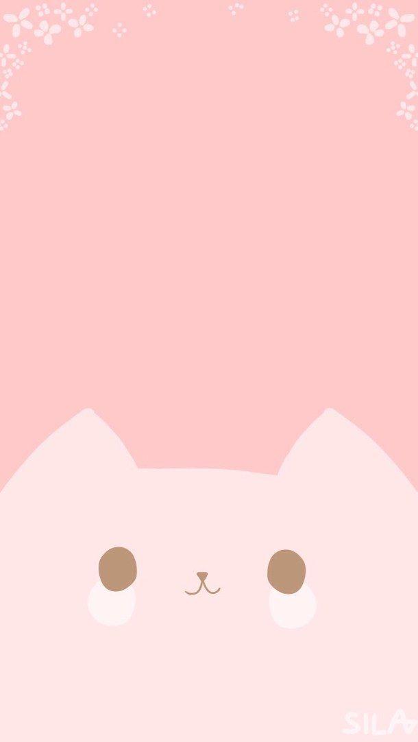 animal, animals, background, cat, cute, iphone, kawaii, pink ... - Wallpaper Zone