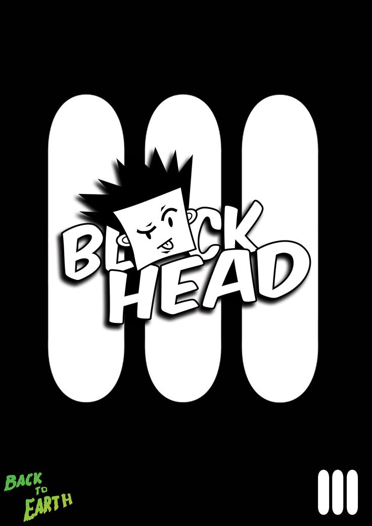 Mascot and Logo(Block Head) for all Back To Earth Skate designs.