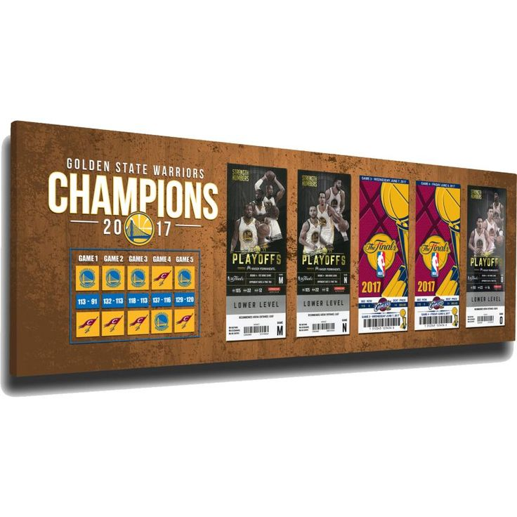 That's My Ticket 2017 NBA Finals Champions Golden State Warriors Tickets to History Canvas Print
