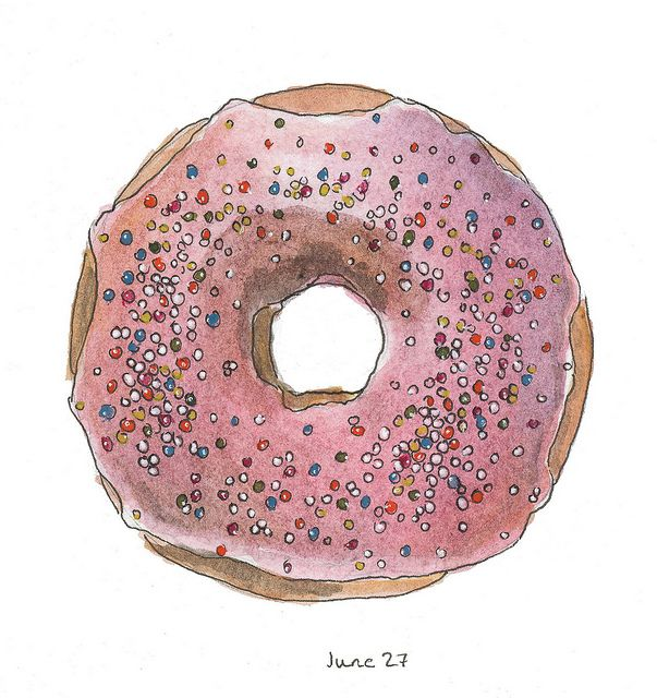 donut drawing | donut | Pinterest | Photos, Donuts and ...