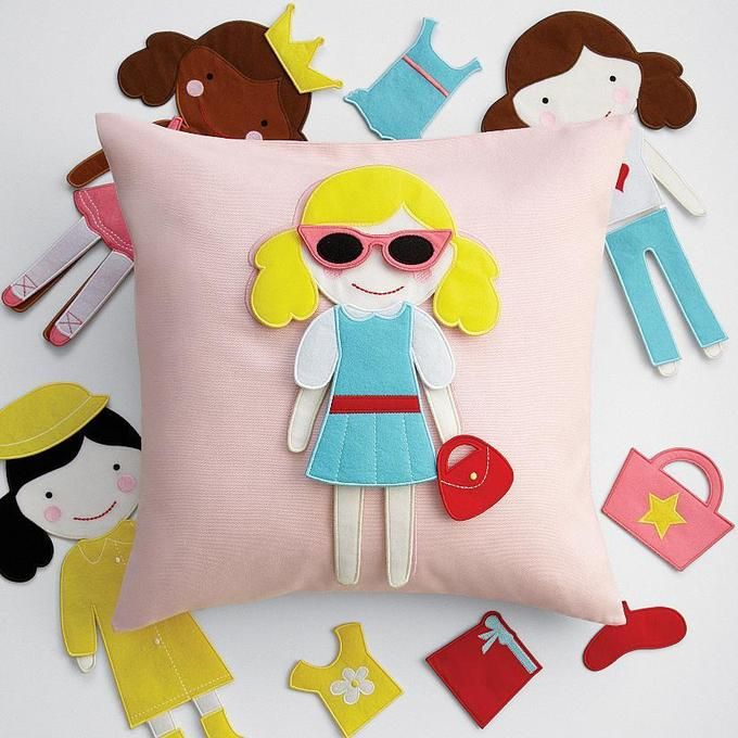 felt doll pillow