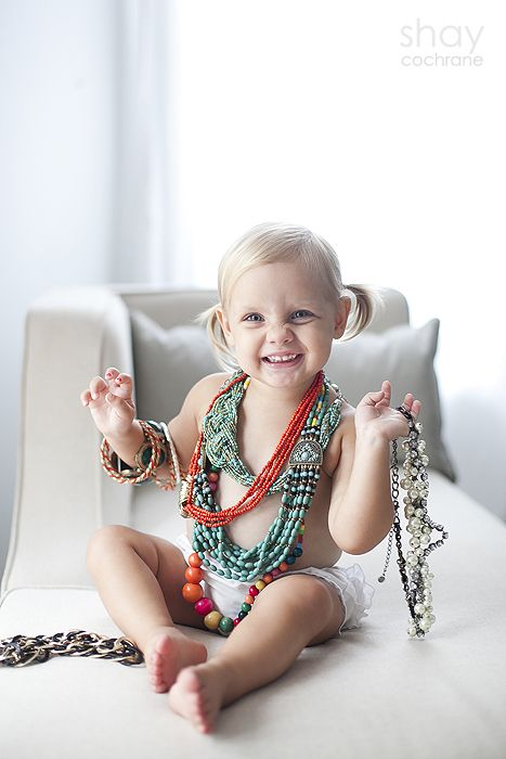 2012 Shay Cochrane Photography | www.shaycochrane.com     toddler girl, portrait, kids, jewelry, photography, pigtails,