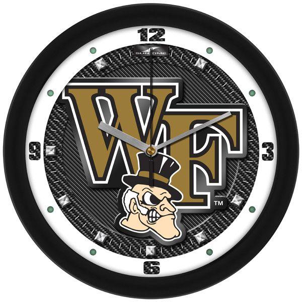 NCAA Wake Forest Demon Deacons-Carbon Fiber Textured Wall Clock
