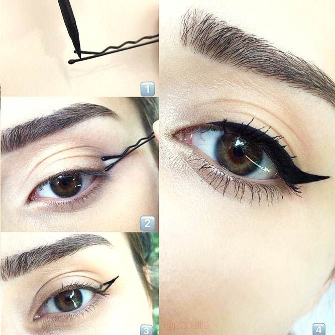 how to apply eyeliner hacks tips and tricks for begginners beauty pinterest tolle. Black Bedroom Furniture Sets. Home Design Ideas