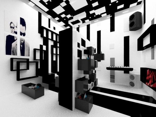 Home music studio by Zarya Vrabcheva, via Behance