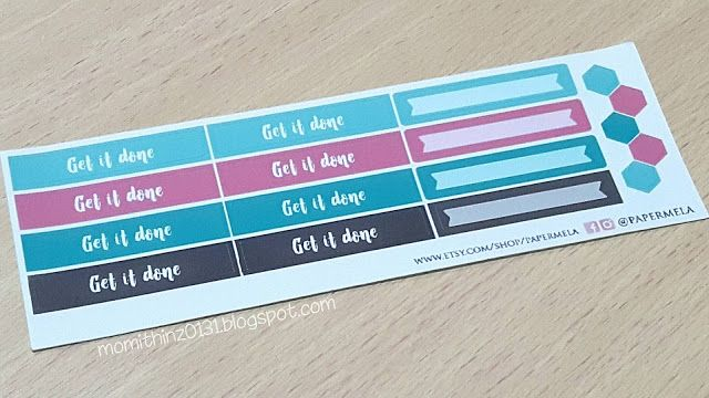 Get It Done Hibiscus Collection Planner Stickers