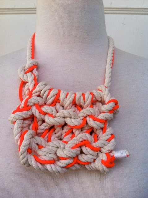 """The Knitted Fluro Neckpiece with this Summer's fluro theme-A great piece for a girlfriend or best friend to wear as a statement piece and piece that's a little bit different!""  Available from Young Designers Market at the Francesca Rockette bags & accessories stall."