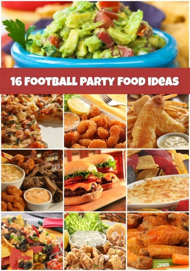 Football Themed Party Food Ideas www.spaceshipsand...
