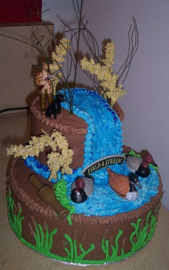 duck hunting cakes | duck hunting duck hunting cake i made for a friend for her to give to ...