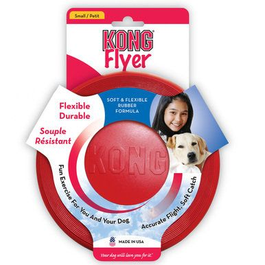 KONG K9 Flyer For Dogs - Natural Rubber Frisbee Disc Small (KF15)